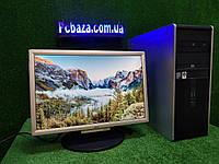 """Компьютер HP + монитор 19"""", Intel 4 ядра, 4 ГБ, 160 ГБ Настроен! Есть Опт! Гарантия!, фото 1"""