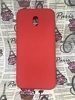 Xiaomi Redmi 8A матовый цветной силиконовый ультратонкий чехол/ бампер/ накладка красный