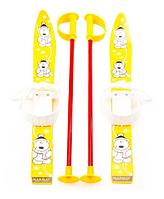 Лыжи детские Marmat Kids с палками 70 см желтые