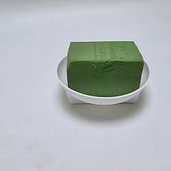 Губка флористическая 7,5х7х11 см в белом поддоне