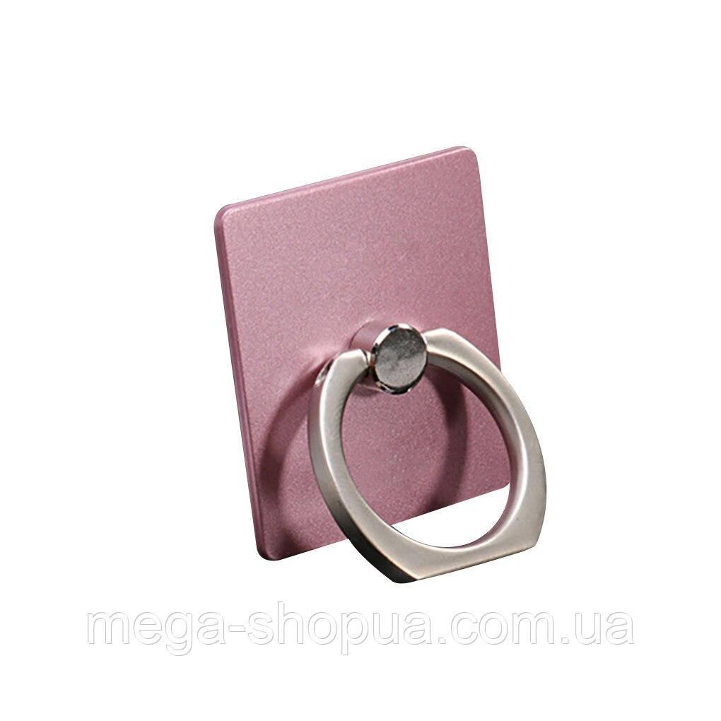 Кольцо держатель для телефона. Подставка для смартфона Ring Rectangle Pink