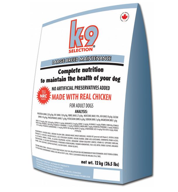 K-9 Селекшенс  Лардж Брид Мейнтененс  Selection Large Breed Maintenance  корм для собак великих порід,12 кг