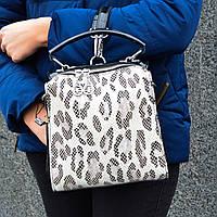 Итальянская кожаная сумка-рюкзак Farfalla Rosso -  (2930-2 Black)