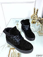 Зимние ботинки хайтопы на толстой подошве