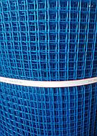 Сетка пластиковая для ограждений голубая 20 м 40*40 440 грн
