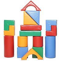 М'який конструктор з модулів Будівельник 7 для дитячої ігрової зони відпочинку
