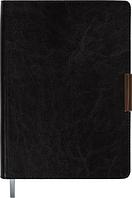 Ежедневник недатированный в линию Buromax Salerno А5, твёрдая обложка, чёрный