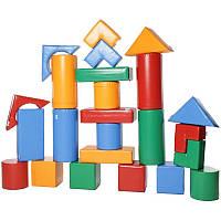 Дитячий конструктор Будівельник 3 з модулів (Ігрові м'які модулі для дітей)