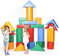 Модульний конструктор м'який Будівельник 5 (Ігрові м'які модулі для дітей)