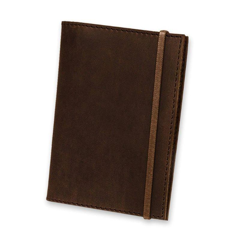 Кожаная обложка для паспорта 1.0 темно-коричневая
