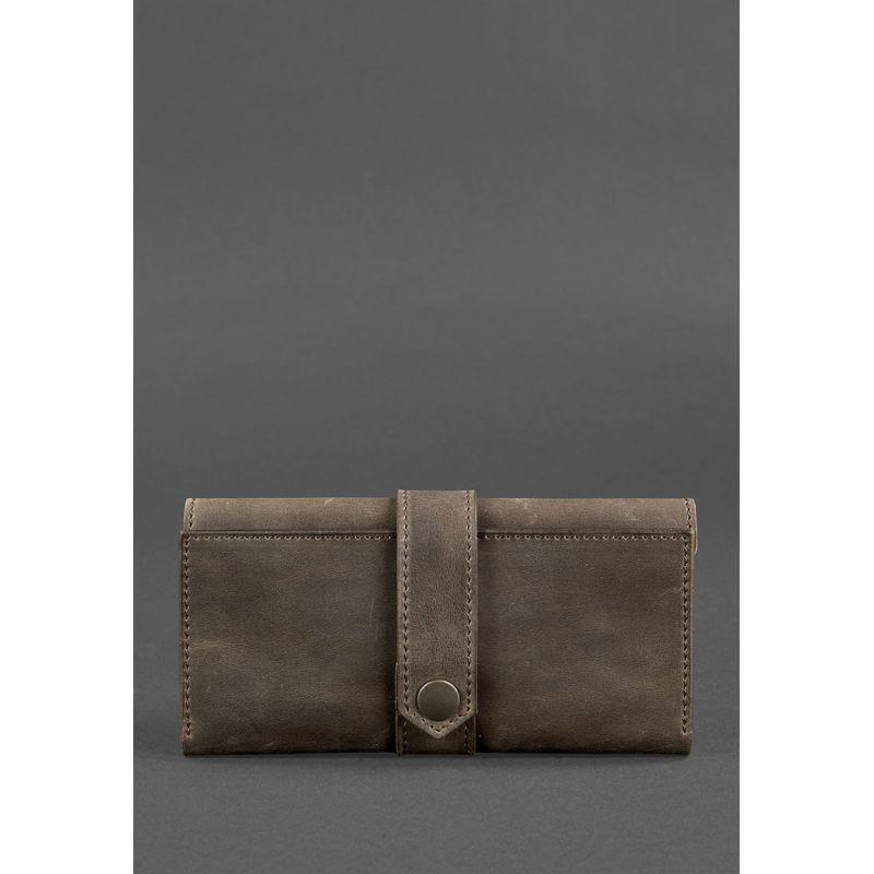 Кожаное портмоне 3.0 темно-коричневое