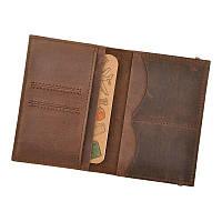 Кожаная обложка для паспорта 2.0 темно-коричневая, фото 1