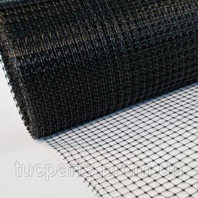 Сетка пластиковая для ограждений черная,высота 125см,длина 20м ,60*60