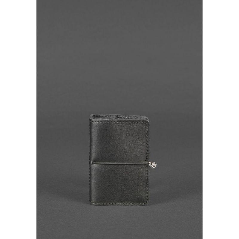 Кожаный кард-кейс 7.0 черный