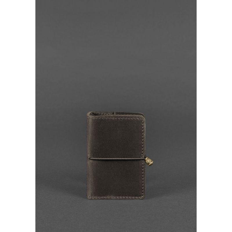 Кожаный кард-кейс 7.0 темно-коричневый