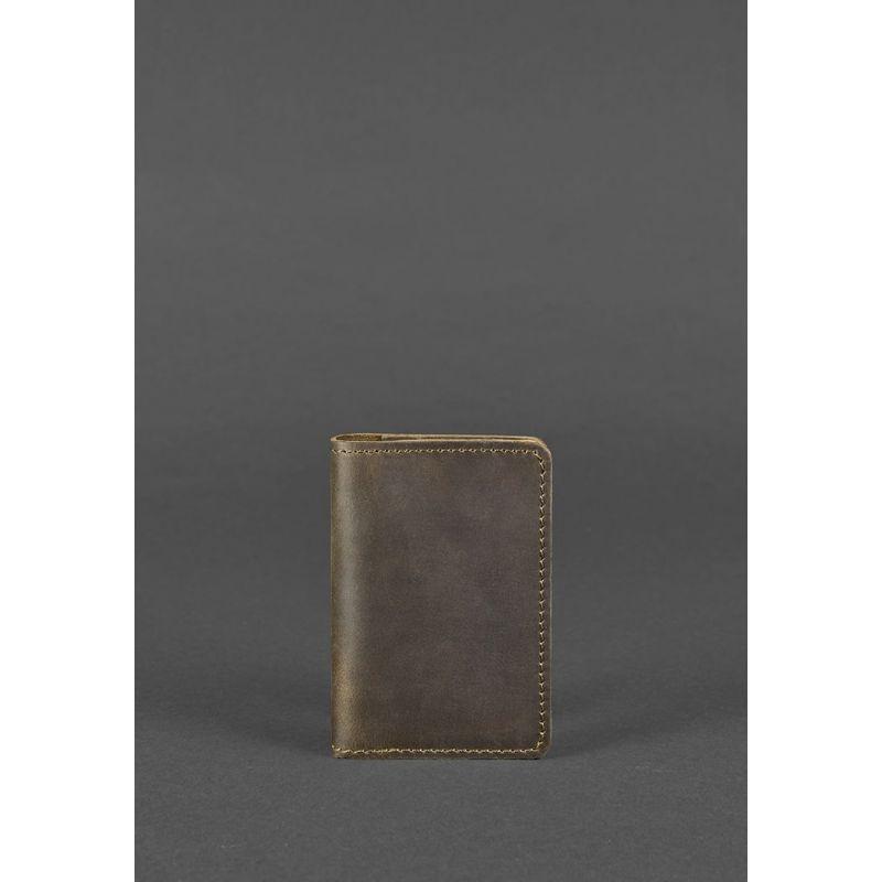 Кожаный кард-кейс 6.0 темно-коричневый