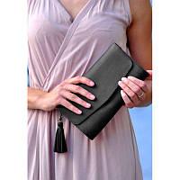 Кожаная женская сумка Элис черная, фото 1
