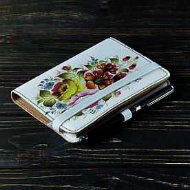 Обложка на блокнот 2.0 A6 Fisher Gifts 14 Петриковский роспись (эко-кожа)