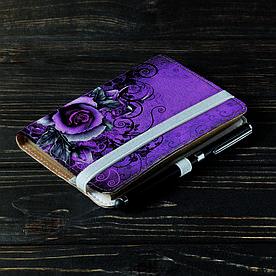 Обложка на блокнот 2.0 A6 Fisher Gifts 30 Цветочный колорит (эко-кожа)