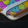 Обложка на блокнот v.2.0. A6 Fisher Gifts 194 Цветные котики фон (эко-кожа), фото 3