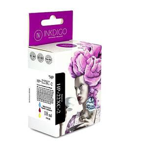 Совместимый картридж Inkdigo™ HP 22 XL Color , чернильный, цветной, 18ml, аналог c9352ce (HP-22XС-2)