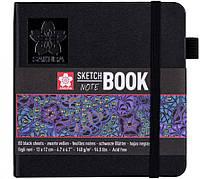 Блокнот для графики Sakura Sketch Black 12х12см 140 г/м2 80 листов (94141002)