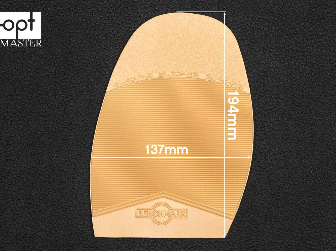 Подметка резиновая BENCHMARK-EURO, т. 2.8 мм, р.4 (большой), цв. бежевый