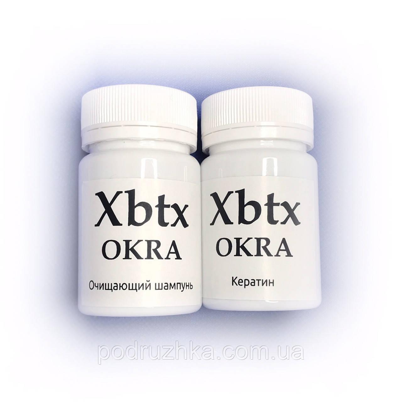 Набор для кератинового выпрямления волос Xbtx de Okra 2х200 г