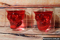"""Набор стаканов с двойными стенками """"Череп"""" Helios для алкогольных напитков 80 мл (6735)"""