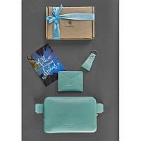 Женский подарочный набор кожаных аксессуаров DropBag Тиффани, фото 1