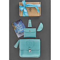 Женский подарочный набор кожаных аксессуаров Лилу Тиффани, фото 1