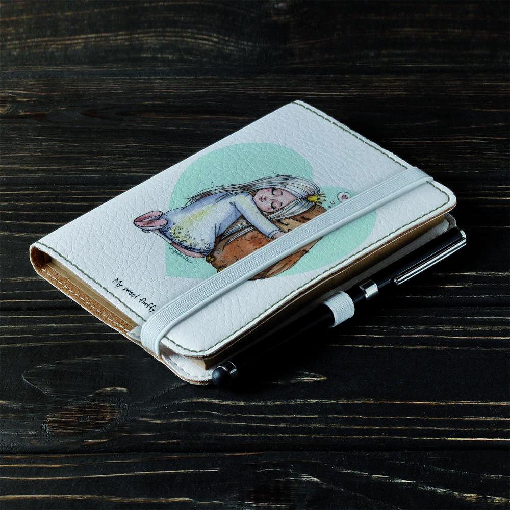 Обложка на блокнот v.2.0. A6 Fisher Gifts 862 Моя милая сова (эко-кожа)