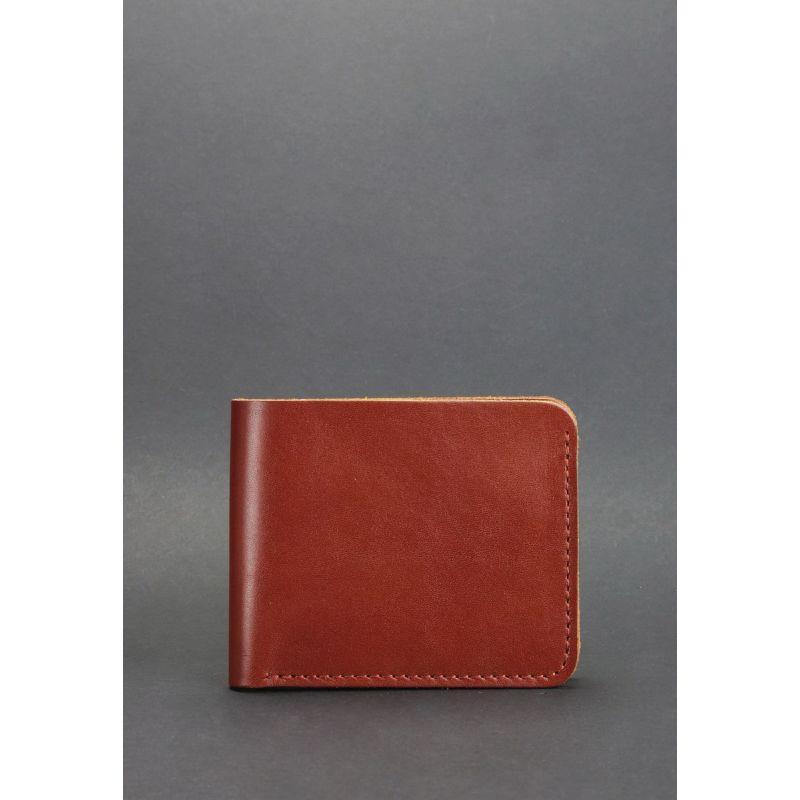 Мужское кожаное портмоне 4.1 (4 кармана) светло-коричневое