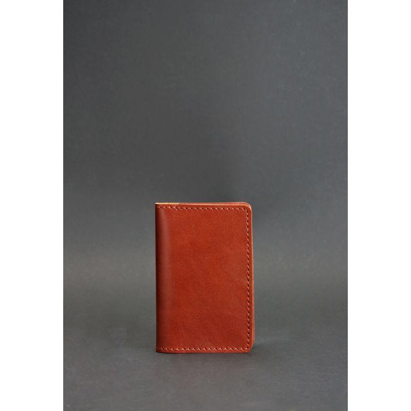 Кожаный кард-кейс 6.0 светло-коричневый