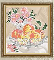 Схема для вышивки бисером Персики в хрустале