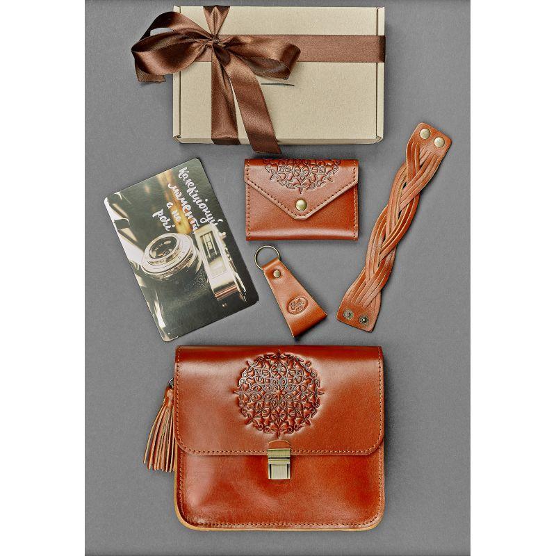 Женский подарочный набор кожаных аксессуаров Будапешт