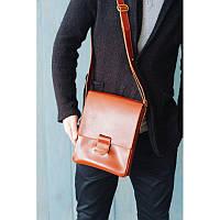 Мужская кожаная сумка-мессенджер Esquire светло-коричневая, фото 1
