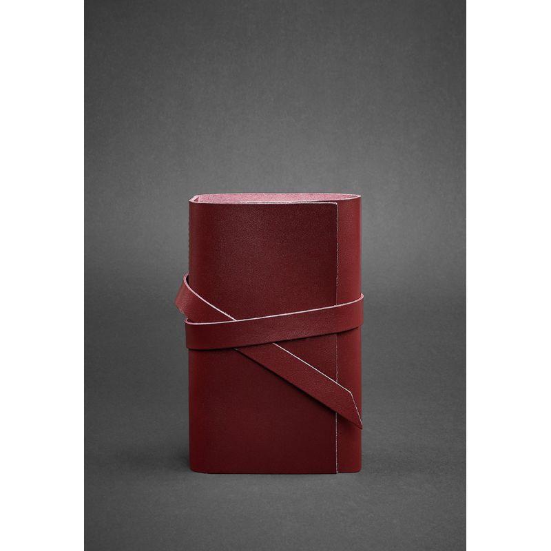 Кожаный блокнот (Софт-бук) 1.0 бордовый