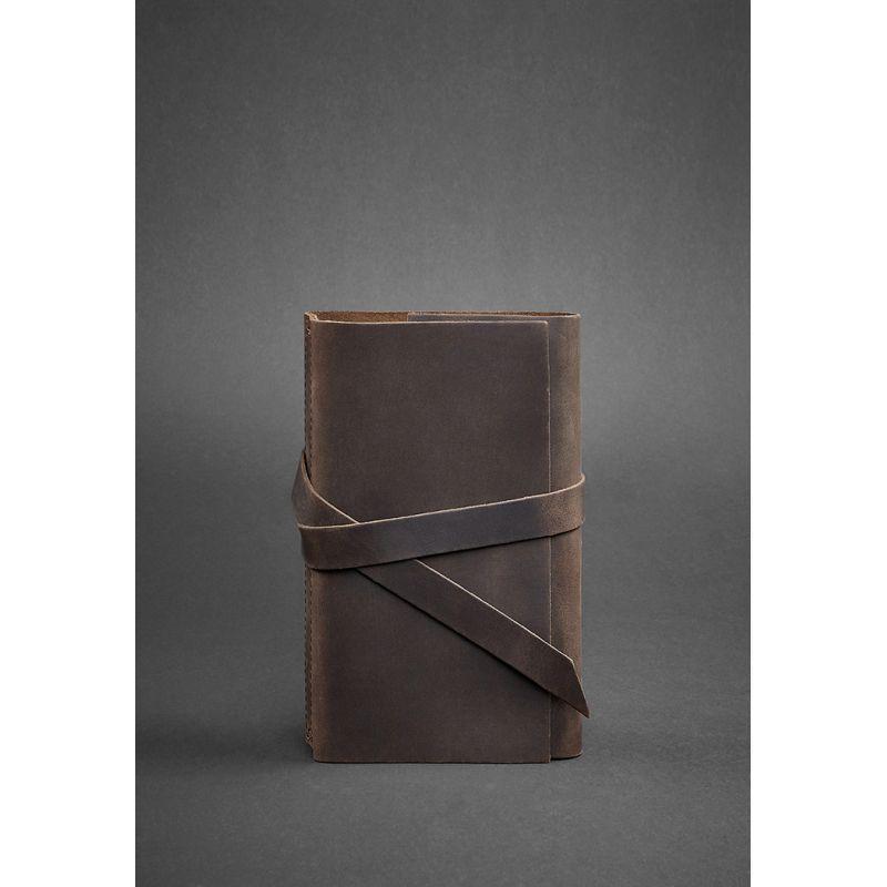 Кожаный блокнот (Софт-бук) 1.0 темно-коричневый