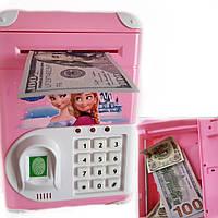 Детская копилка сейф Cartoon Bank с отпечатком пальца Frozen