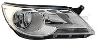 Фара передняя Volkswagen Tiguan 2008-2011 правая H7+H7 с моторч