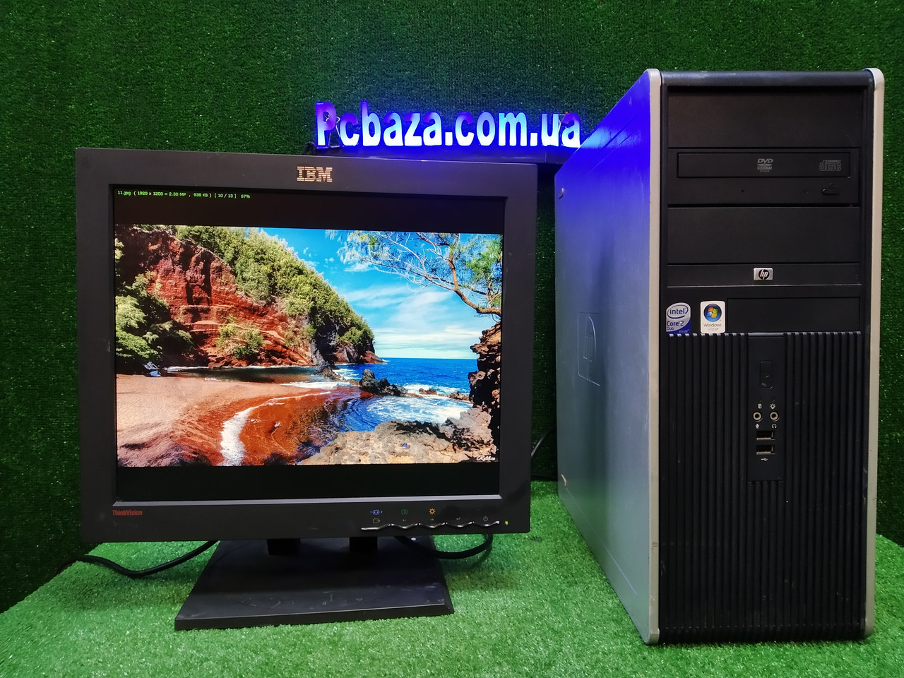 """ПК HP + мон 17"""" , Intel 4 ядра, 4 ГБ, 320 ГБ Настроен! Есть Опт! Гарантия!"""
