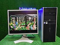 """ПК HP + мон 19"""" IPS NEC, Intel 4 ядра, 4 ГБ, 320 ГБ Настроен! Есть Опт! Гарантия!, фото 1"""