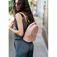 Кожаный женский мини-рюкзак Kylie розовый, фото 1