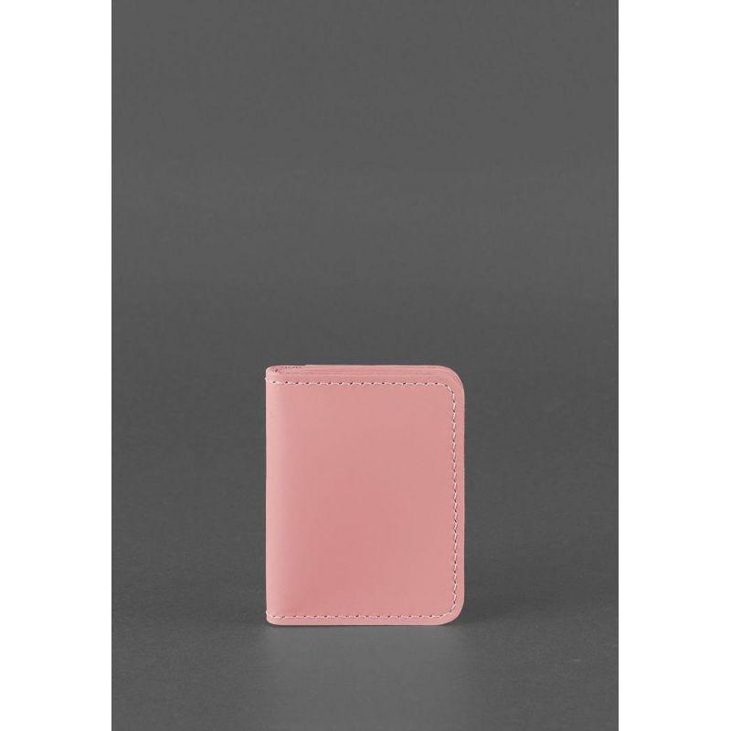 Женская кожаная обложка для ID-паспорта и водительских прав 4.0 Розовая