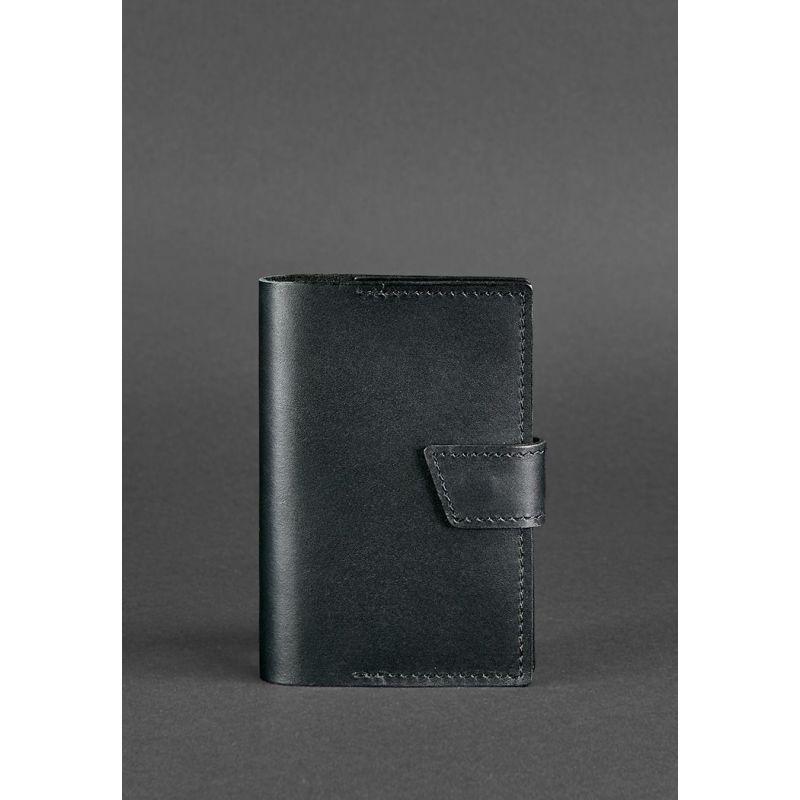 Кожаная обложка для паспорта 4.0 черная