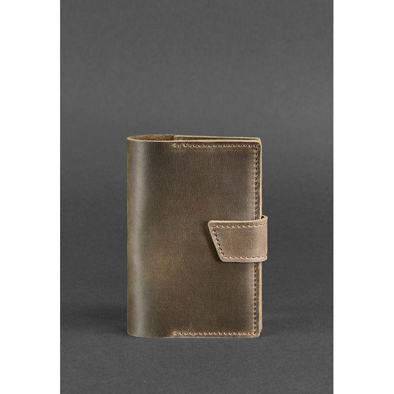 Кожаная обложка для паспорта 4.0 темно-коричневая