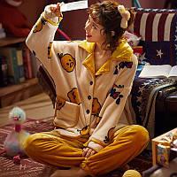 Женская махровая пижама велсофт