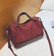 Заказ от 1000 грн, женская сумка бордо оптом, сумка из экокожи тренд 2021 FS-3577-91