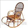 Кресло качалка плетенное из лозы Славутич